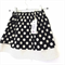 Black with White Spotted Girls Skirt.