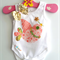 Christmas Peace Dove Baby Girl Singlet or Onesie Size newborn - 2 years