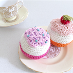 Vanilla Cupcakes|Hand Crocheted|Play Food|Set of 2