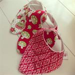 Christmas inspired trio of handkerchief bibs