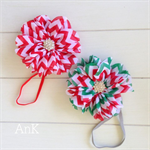 Claire Chevron Skinny Stretch Headband - Red or Christmas