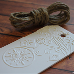 Embossed Christmas Gift Tags - White
