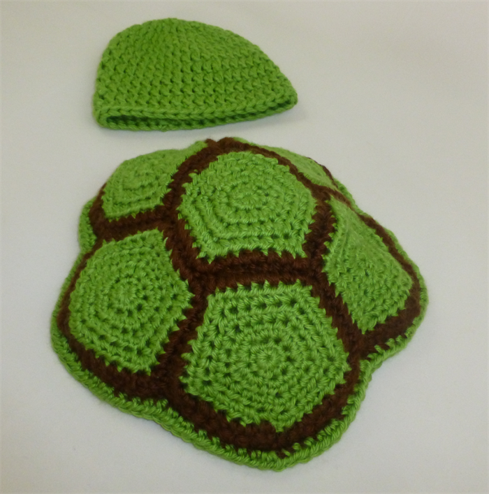 Crochet Turtle Shell and Beanie Baby Photo Prop (Green ...