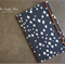 Charcoal Grey / Crosses Upcycled Fabric Covered Notebook