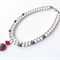 Sashi  2 strand cream, copper and red coral necklace