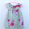 Gorgeous Summer Green Roses Floral Baby Girl Toddler Romper Playsuit
