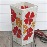 Poppy Mosaic Vase in Red/Yellow tonings