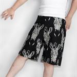 Monochrome Zebra - Retro Rascal Shorts