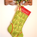 Personalised Christmas Stocking 'Woodland Christmas Trees'