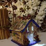 Christmas LED Light decoration tree house xmas ornament