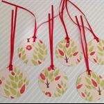 Merry Christmas Tags set of 6