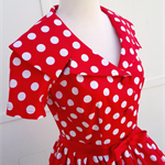 Red and White Polka Dot Betty Dress. Size 10. Retro, Rockabilly, Vintage