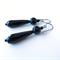 Dio Onyx black drop occasion earrings by Sasha+Max Studio