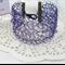 Purple Crochet Wire Cuff Bracelet Handmade OOAK by Top Shelf