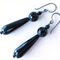 Dio Onyx black drop occasion earrings by Sasha+Max Studio