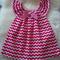 Red chevron peasant dress sz 0 - 6