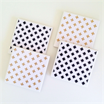 Black & Gold Glitter Crosses Coasters - 4 Ceramic Tile Drink Coasters Crosses