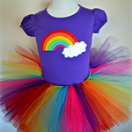 Rainbow Tutu Set includes TuTu and s/sleeve Tee in Light Pink or Purple. sz 3-5
