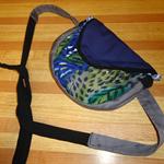 Animal Print- Upcycled hip bag