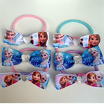 FROZEN Fan 6 Pack Hair Bow Elastic Ties