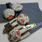 Two sets button hair accessories snaps and elastics Liberty of London