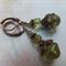 Olivine Flying Saucer Vintage Earrings