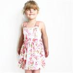 Peach Fairy Forest Overall Dress