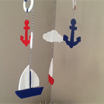 Hand made nautical themed baby mobile