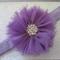 Toddler/girl headband ~ chiffon flower (lavender)