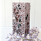 Floral Mosaic Vase in Mulberry shades