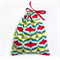 Christmas Gift Bag - Reusable & Eco Friendly. Fabric Xmas Bag. Trees & Baubles.