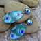 RESERVED LISTING FOR ANGIE C, SUBLIMATION PEACOCKEARRINGS