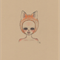 Art print, fox girl 8x10 drawing, orange, pink and light brown