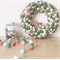 Medium Feltball Wreath and Garland - Sweetpea