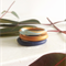 STACKER RINGS three clay stacking rings in gold, indigo and aqua