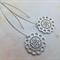 Rhodium Lace Flower Earrings