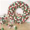 Medium Feltball Wreath and Garland - Traditional Christmas