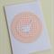 Pale Pink & White Birdie Baby Card