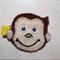 Felt Curious George Monkey Hair Clip - Hair Bow