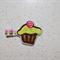 Tiny Felt Cupcake Hair Clip - Hair Bow