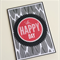 Black & Red Oh Happy Day Birthday Card