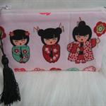 Pink Kimono Girl Coin Purse