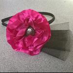 """Hot Pink """"poppy"""" headband"""