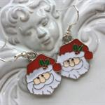 santa enamel earring or choose christmas tree earrings in store