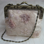 Beaded Lace Evening Clutch Purse