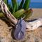 Purple Sea Glass Coral Branch Pendant