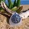 White Sea Glass Sand Dollar Pendant