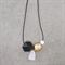 Chunky Quartz & Wood Leather Long Minimalist Geometric Necklace