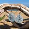 Soft Blue Sea Glass Earrings