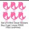 Set of 6 Tweety Bird Decal Vinyl Stickers. Buy 2 sets get 1 more FREE